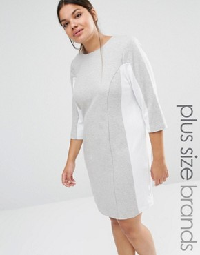 Carmakoma Shift Dress With Contrast Panels