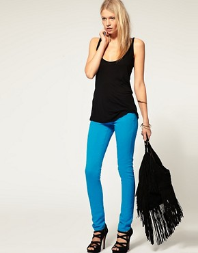 Image 4 ofASOS Light Blue Skinny Jeans