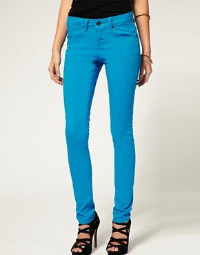 Image 1 ofASOS Light Blue Skinny Jeans