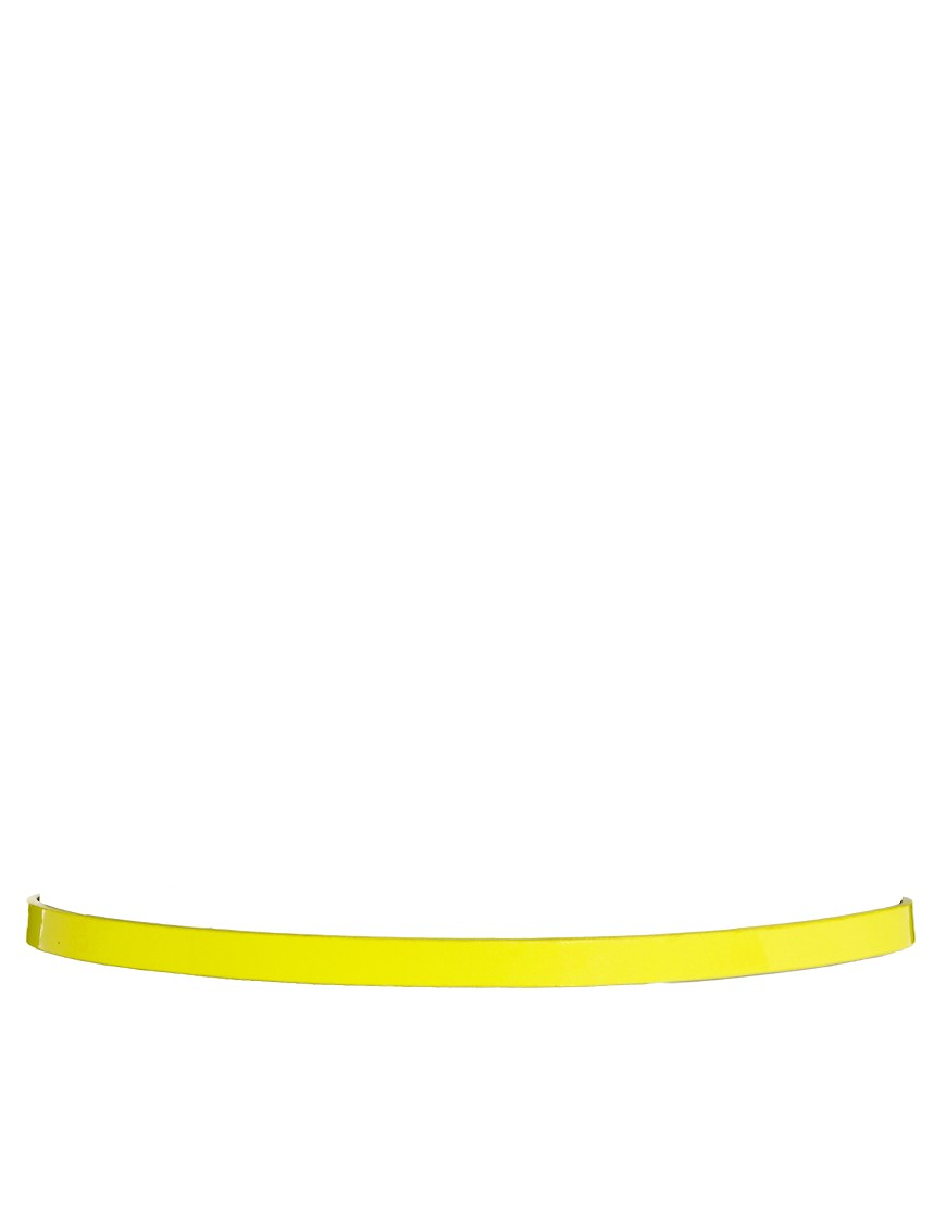 Image 2 of ASOS CURVE Neon Metal Keeper Super Skinny Waist Belt