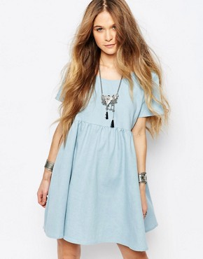Glamorous Denim Smock Dress