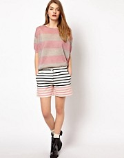 Markus Lupfer Stripe Panel Shorts