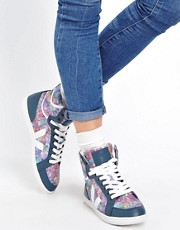 Veja SPMA Navy Printed High Top Trainers