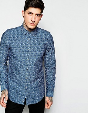Sisley Shirt with All over Floral Jacquard