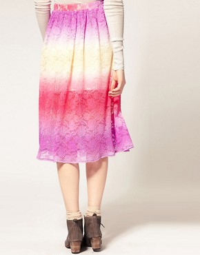 Image 2 ofASOS Lace Full Skirt With Dip Dye Effect