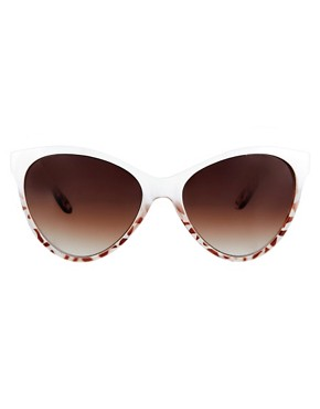 Image 2 ofMango Touch Oversized Two Tone Cateye Sunglasses