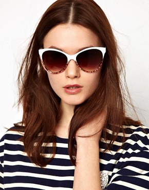 Image 3 ofMango Touch Oversized Two Tone Cateye Sunglasses