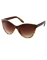 Mango Touch Oversized Two Tone Cateye Sunglasses