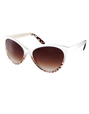Image 1 ofMango Touch Oversized Two Tone Cateye Sunglasses