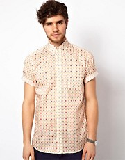 Liberty Print Shirt with Dan Orange Print