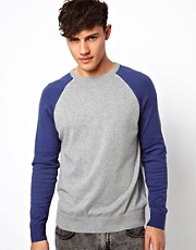 River Island Power Jumper in Colour Block