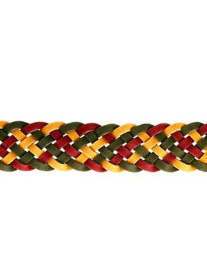 Image 4 ofASOS Red Mixed Plait Belt