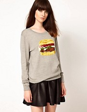 Markus Lupfer Sequined Hamburger Jumper