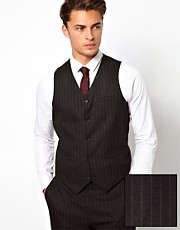 ASOS Skinny Fit Waistcoat in Pinstripe