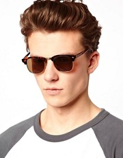 ASOS  Clubmaster-Sonnenbrille in Schildpattoptik