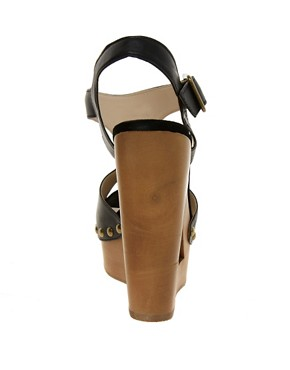 Image 2 of ALDO Baraby Cut Out T Bar Wedge Sandals