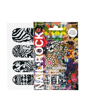 Image 1 ofNail Rock ASOS Exclusive Baroque Animal Print Nail Wraps