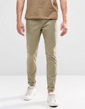 ASOS Skinny Chinos In Light Stone