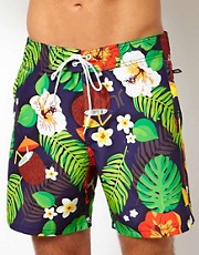 WESC Tropical Swim Short UK Exclusive