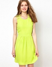 A Wear Cut Out Shoulder Dress