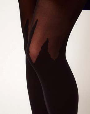 Image 2 ofHouse of Holland By Pretty Polly Spike Mock Hold Ups