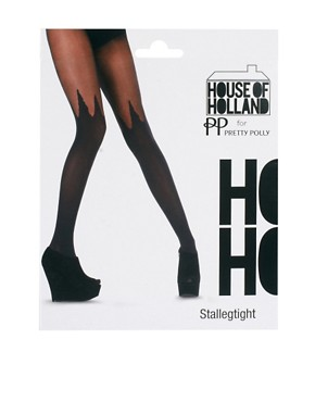 Image 3 ofHouse of Holland By Pretty Polly Spike Mock Hold Ups