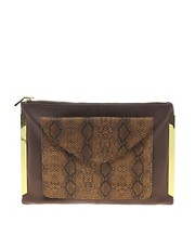 ASOS Leather 2 in 1 Clutch Bag