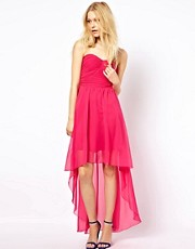AX Paris Bandeau Dress With Dipped Hem