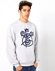 Mishka Crew Neck Sweat Bear Mop