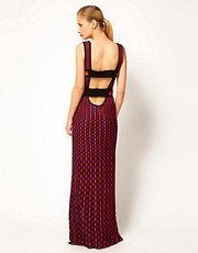 M Missoni Knitted Maxi Dress With Statement Strap Back