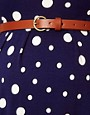 Image 3 ofASOS Maternity Skater Dress In Spot With Belt