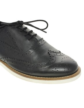 Image 2 ofASOS MARKSY Leather Brogue with Contrast Sole