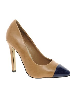 Image 1 ofCarvela Janet Leather Court Shoe With Toe Cap