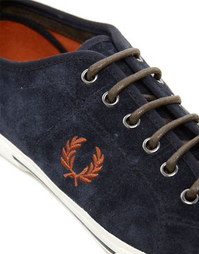Image 2 ofFred Perry Vintage Tennis Suede Plimsolls