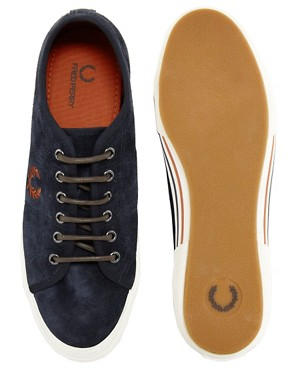 Image 3 ofFred Perry Vintage Tennis Suede Plimsolls