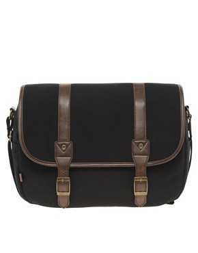 Image 1 ofASOS Canvas Hunting Satchel