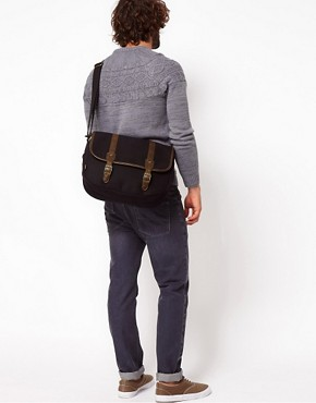 Image 3 ofASOS Canvas Hunting Satchel