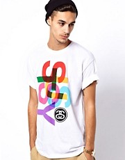 Stussy T-Shirt Overlap Logo