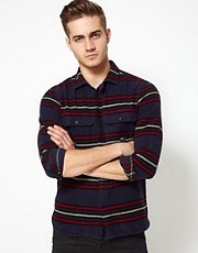 Diesel Flannel Shirt With Stripes