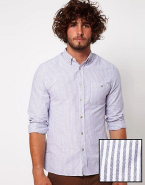 Image 1 of ASOS Oxford Shirt With Stripe