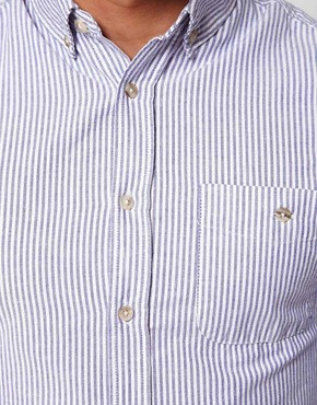 Image 3 of ASOS Oxford Shirt With Stripe