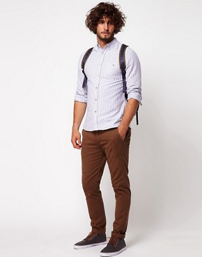 Image 4 of ASOS Oxford Shirt With Stripe