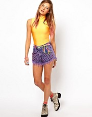 Bitching &amp; Junkfood Shorts in Studded Dip Dye