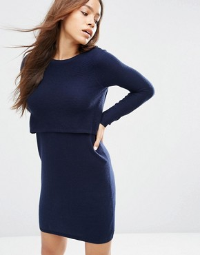 ASOS 2 in 1 Knit Dress In Cashmere Mix