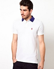 Polo Ralph Lauren Polo with Contrast Collar in Custom Fit