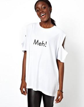 Imagen 1 de Camiseta con estampado Meh de ASOS