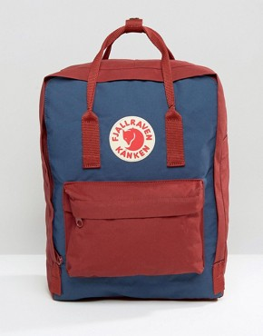 Fjallraven Contrast Kanken 16L Backpack In Blue
