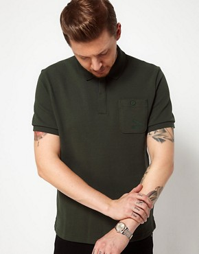Image 1 of Pro Green X PUMA Polo with Contrast Trim
