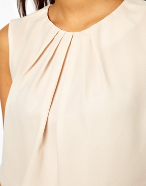 Image 3 ofASOS Sleeveless Top With Pleat Neck