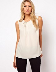 ASOS Sleeveless Top With Pleat Neck
